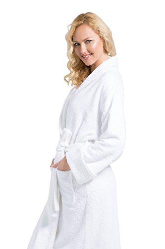 7a6f8b947b Fishers Finery Women s EcoFabric Resort Terry Robe  Full Length  Rolled  Cuffs