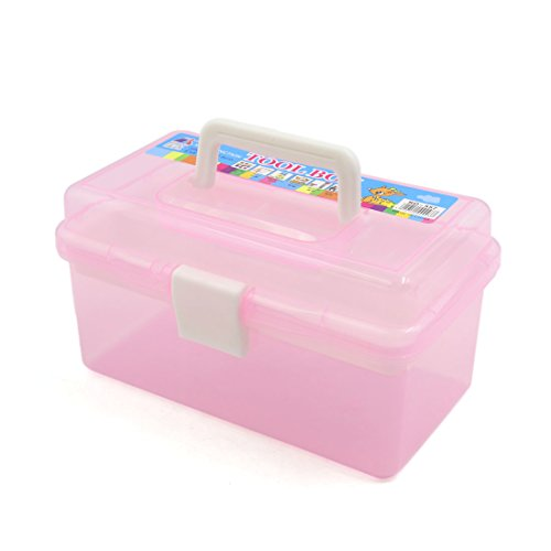 uxcell Pink Multifunction Empty Nail Art Makeup Cosmetic Tool Container Storage Box from uxcell