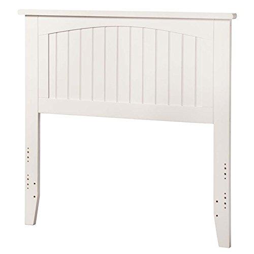 Atlantic Furniture Nantucket Twin Panel Headboard in White ()