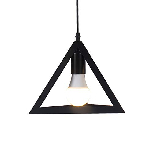 CSDM.AI Retro Edison Light Pendant Ceiling Lighting Metal Symmetrical Geometric Shape E27 Base Chandelier lamp Shades for Bedroom Living Room Kitchen Dining Room, ø27 cm ()