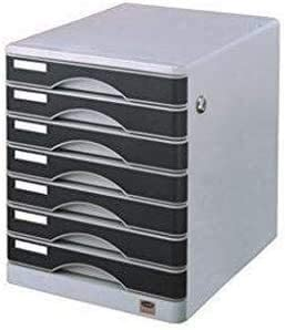 内閣引出し付きチェストドキュメント横フラットモバイルファイルキャビネットファイリング7層を備えたロック可能なファイルキャビネット、