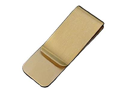 [Outlet] Money clip Simple Gold Metallized Plain Type Smart Paper clip Card Clip Your wallet Keeps away. Bill scissors Travel Toy Travel and business trips! Gold Colors