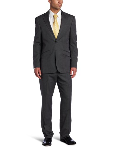 Kenneth Cole REACTION Men's 2 Button Single Vent Separate Jacket, Black/White Pindot, 48 Long -