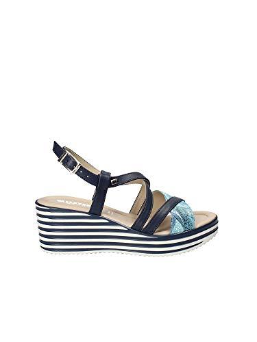 Zeppa Valleverde 32322 Blu Sandalo Donna SqXwEBX