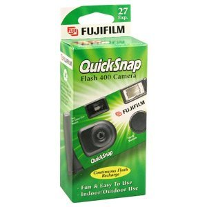 1 Single Use Camera - Fujifilm QuickSnap Flash 400 Disposable 35mm Camera