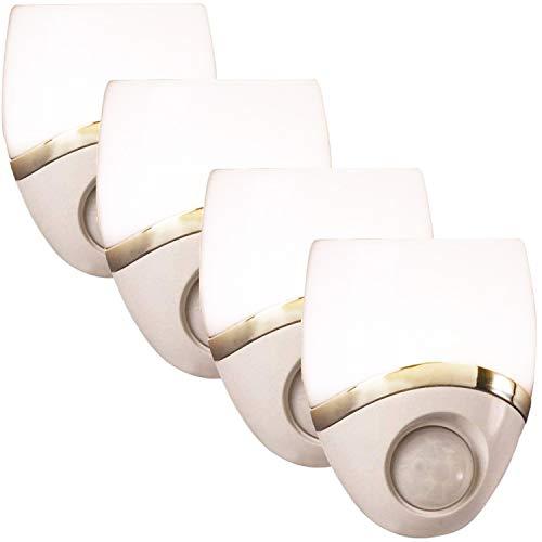 Amertac 4 Pack White Led Night Light