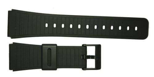 Casio 22mm Black Resin Buckle