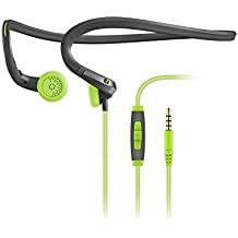 Sennheiser PMX 684i Fitness Workout Sports Running and Cycling Earbud/in Ear Ultralight Apple/iPhone/iPad Compatible Neckband Headphone Grey/Green Color Headset Sweat and Water Resistant