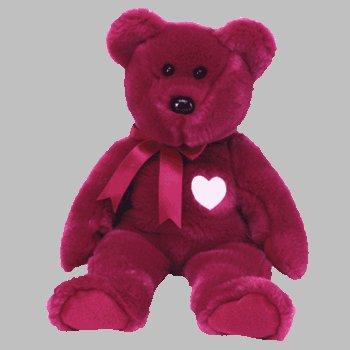 Amazon.com  TY Beanie Buddy VALENTINA Bear Valentine Day Heart Teddy ... 9eecef60520