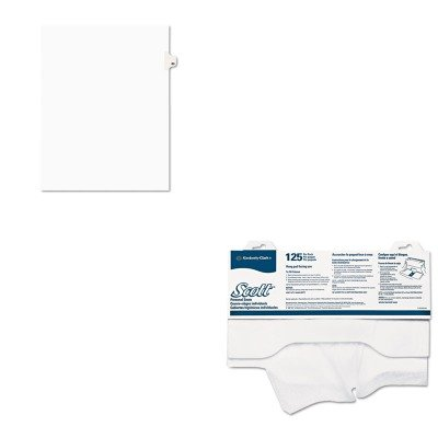 KITAVE01080KIM07410CT - Value Kit - KIMBERLY CLARK SCOTT Personal Seats Sanitary Toilet Seat Covers (KIM07410CT) and Avery Avery-Style Legal Side Tab Divider (AVE01080)