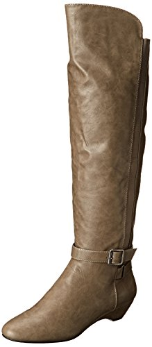 Madden Girl Womens Zilch Moto Boot Taupe