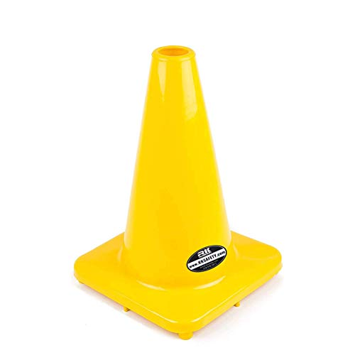 (Set of 10) RK PVC Traffic Safety Cone, Yellow, 12-Inch