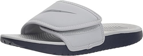 Nike Boy's Slide Kawa Adjust (GS/PS), Wolf Grey/Obsidian 2 Y US