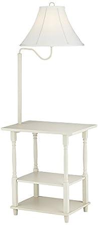 Blanca Antique White End Table Floor Lamp