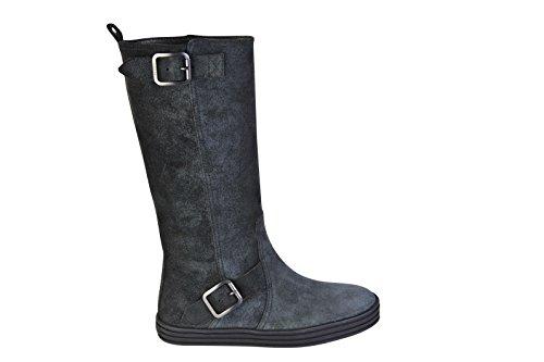 Hogan Zapatos Mujer Gris Cuero Botas 35