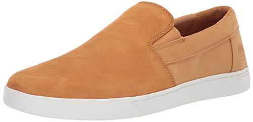 (Timberland Men's Groveton Slip On Sneaker, Wheat Nubuck, 7.5 Medium US)