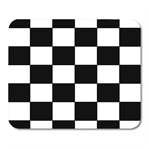 Emvency Mouse Pads Checker Black and White Racing Checkered Pattern Flag Check Board Mouse pad 9.5