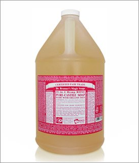 Dr. Bronner's Organic Rose Oil Castile Soap, 128 Oz Dr. Bronner's