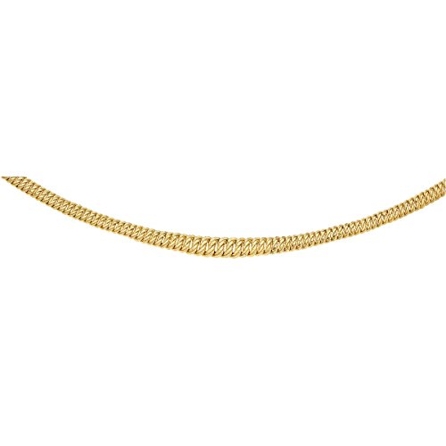 DIAMANTLY Collier or 750 chute americaine 10 mm allege - 45 cm