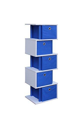 4D Concepts Zig Zag 5 Drawer Storage Tower in Ocean Blue