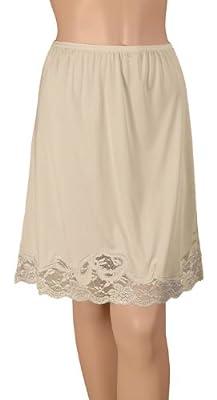 Gemsli Elegance, Nylon Half Slip with Novelty Lace, Cling Free # HK304