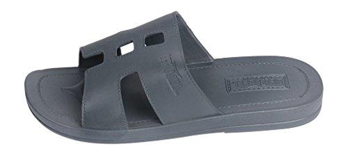 Bertelli Mens SOPHISTICATED Slide Beach Sandals Grey Mc3QQgc3