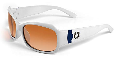 - NFL Indianapolis Colts Bombshell Sunglasses with Bag, White/Blue