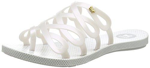 Zaxy Fresh Infinity Fem, Sandales Ouvertes Femme Blanc - Wei? (White 8482)