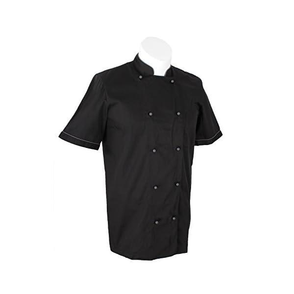 MISEMIYA Chaquetas Chef Bar Restaurante Cocinero Mangas Cortas Camisa de utilidades de Trabajo para Hombre 4