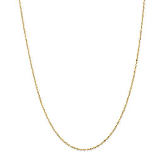 Ball Tennis Italian Charm - 14k Yellow Gold 1.10mm Link Singapore Chain Necklace 18 Inch Pendant Charm Fine Jewelry Gifts For Women For Her