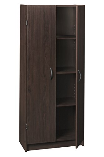 Double Door Utility Cabinet - ClosetMaid 1556 Pantry Cabinet, Espresso