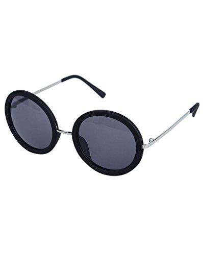 Ronda Lente Negro Hombre Sunglasses MissFox Vintage Gafas de Moda única Mujer para Gafas Sol Talla y UV400 axpwPqva