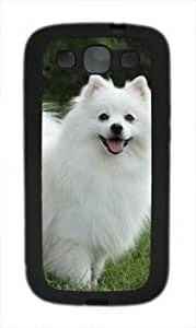 American Eskimo Dog Customized Rubber Material Black Samsung Galaxy S3 I9300 Case By Custom Service Kimberly Kurzendoerfer