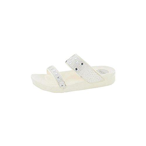 Spot Op Dames Kunstleer Loafers Schoenen Wit