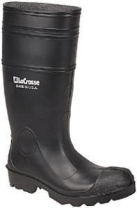 "ONGUARD 87401 PVC Men's Buffalo Plain Toe Knee Boots with Lug Outsole, 16"" Height, Black, Size 11"