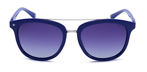 "PRIVE REVAUX ""The Judge"" Handcrafted Designer Polarized Oversized Sunglasses (Blue)"
