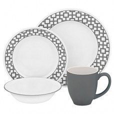 Corelle Impressions 16 Piece Dinnerware Set - Urban Grid