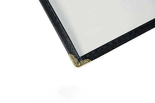 Vinyl Sewn Edge Menu Covers - Cafe Style Menu Covers - 8.5 X 11, Black Pack of 25