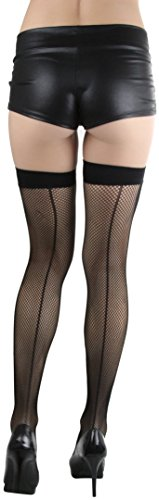 ToBeInStyle-Womens-Lady-Bug-Applique-Spandex-Mini-Diamond-Net-Thigh-Hi