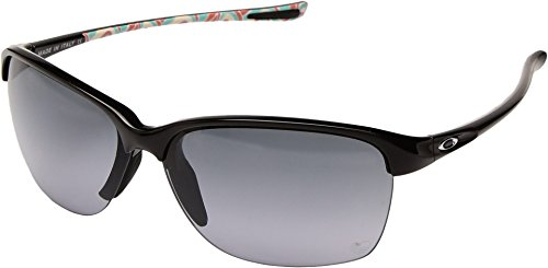 Oakley Womens Unstoppable Sunglasses (OO9191) Black/Grey Plastic - Non-Polarized - - Hut Sunglass Oakley