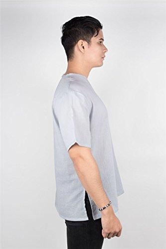 Short Chiaro Thai Collo shirt Sleeve V A Uomo Lofbaz Grigio T zqVSUMGjLp