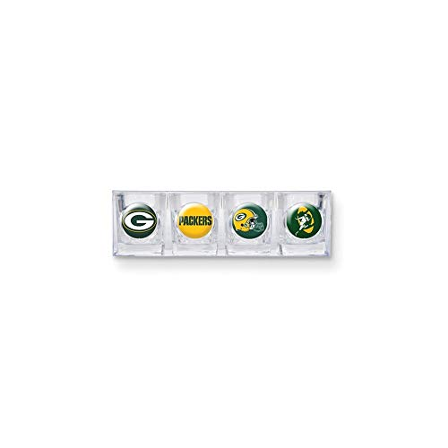 - NFL Green Bay Packers Four Piece Square Shot Glass Set (Individual Logos)