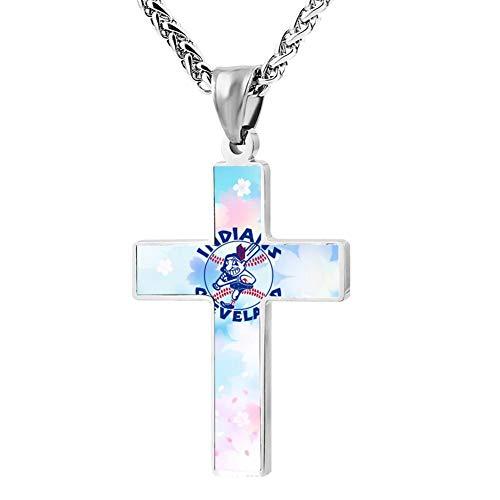 Long Live Chief Wahoo Cross Necklace Customized Religious Jewelry Zinc Alloy Pendant Men Women