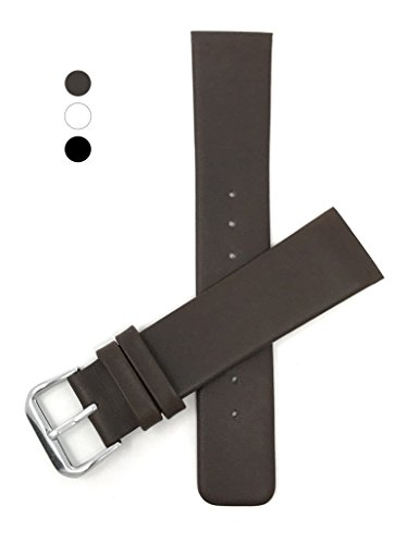 Genuine Skagen 22mm Leather Watch Strap, Brown (White Strap Leather Black)