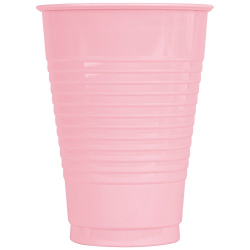 Creative Converting 28158071 12 oz. Classic Pink Plastic Cup - 20 / Pack