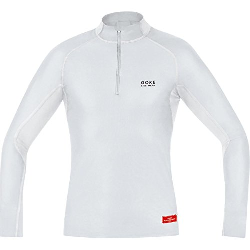Gore Bike Wear Men's Windstopper  Base Layer Turtleneck Top, Light Grey/White, - Triathlon City Spanish