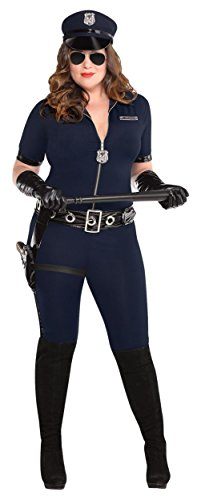 Plus Size Womens Police Officer Costumes - Stop Traffic Adult Costume - Plus Size