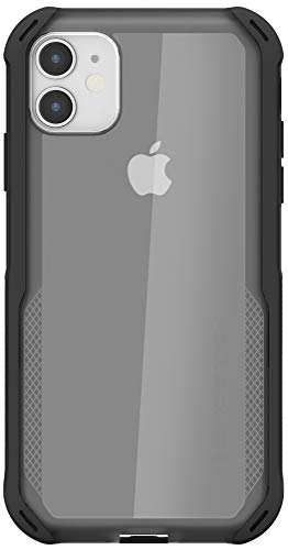 """Ghostek Cloak Designed for iPhone 11 Case Thin Clear Slim Military Grade Phone Cases Slim Fit Shockproof Protective Bumper Cover with Anti-Slip Grip for 2019 Apple iPhone 11 (6.1"""" Screen) - (Black)"""
