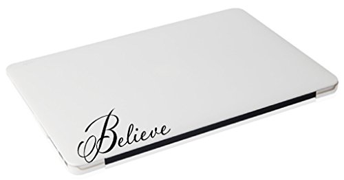 Laptop MAC - Believe religious apple macbook funny decal - matte black skins stickers