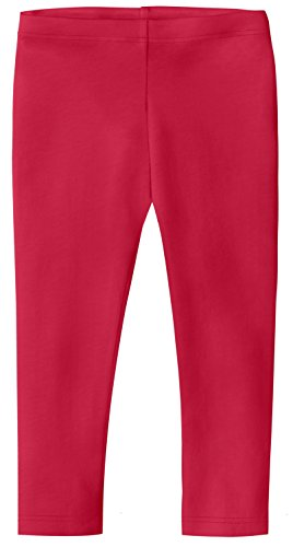 City Threads Big Girls' Cotton Cropped Capri Legging for Summer, Play and School, CandyApple, 18/24m